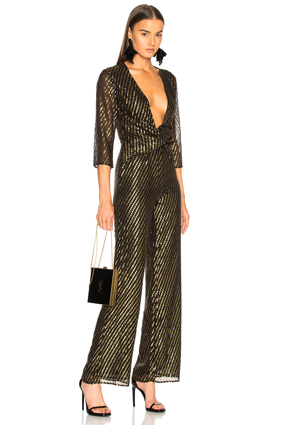 Image 1 of LPA Jumpsuit 437 in Gold Dot