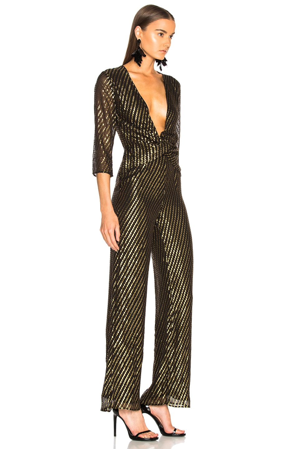 Image 2 of LPA Jumpsuit 437 in Gold Dot