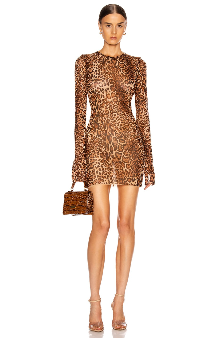 Image 1 of LaQuan Smith Animalia Dress in Leopard Natural
