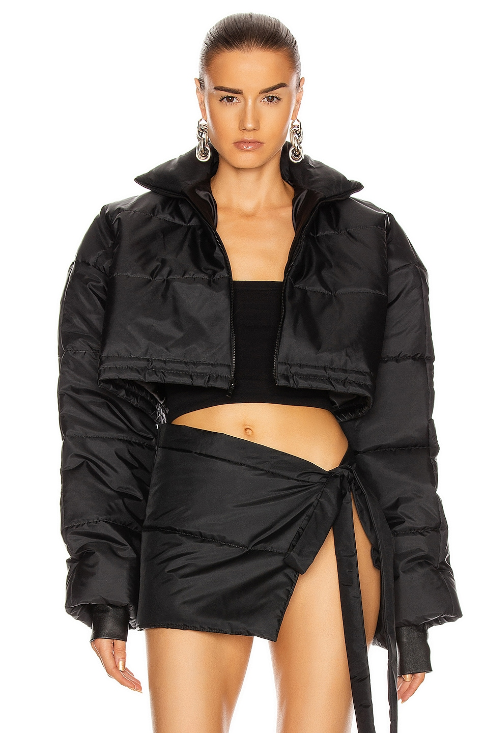 Image 1 of LaQuan Smith Puffer Jacket in Black