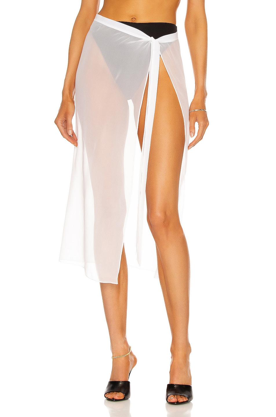 Image 1 of LaQuan Smith Sheer Sarong in White