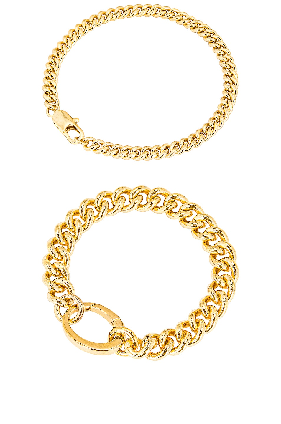 Image 1 of LAURA LOMBARDI for FWRD Presa and Curb Chain Bracelet Set in Gold