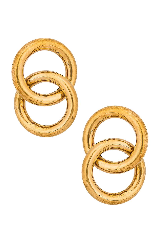 Image 1 of LAURA LOMBARDI Interlock Earrings in Gold