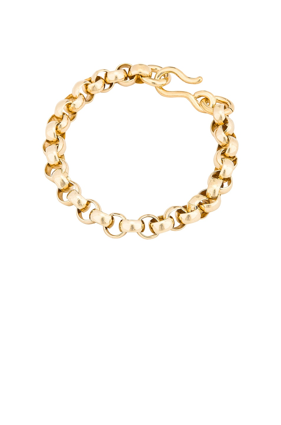 Image 1 of LAURA LOMBARDI Rolo Anklet in Gold