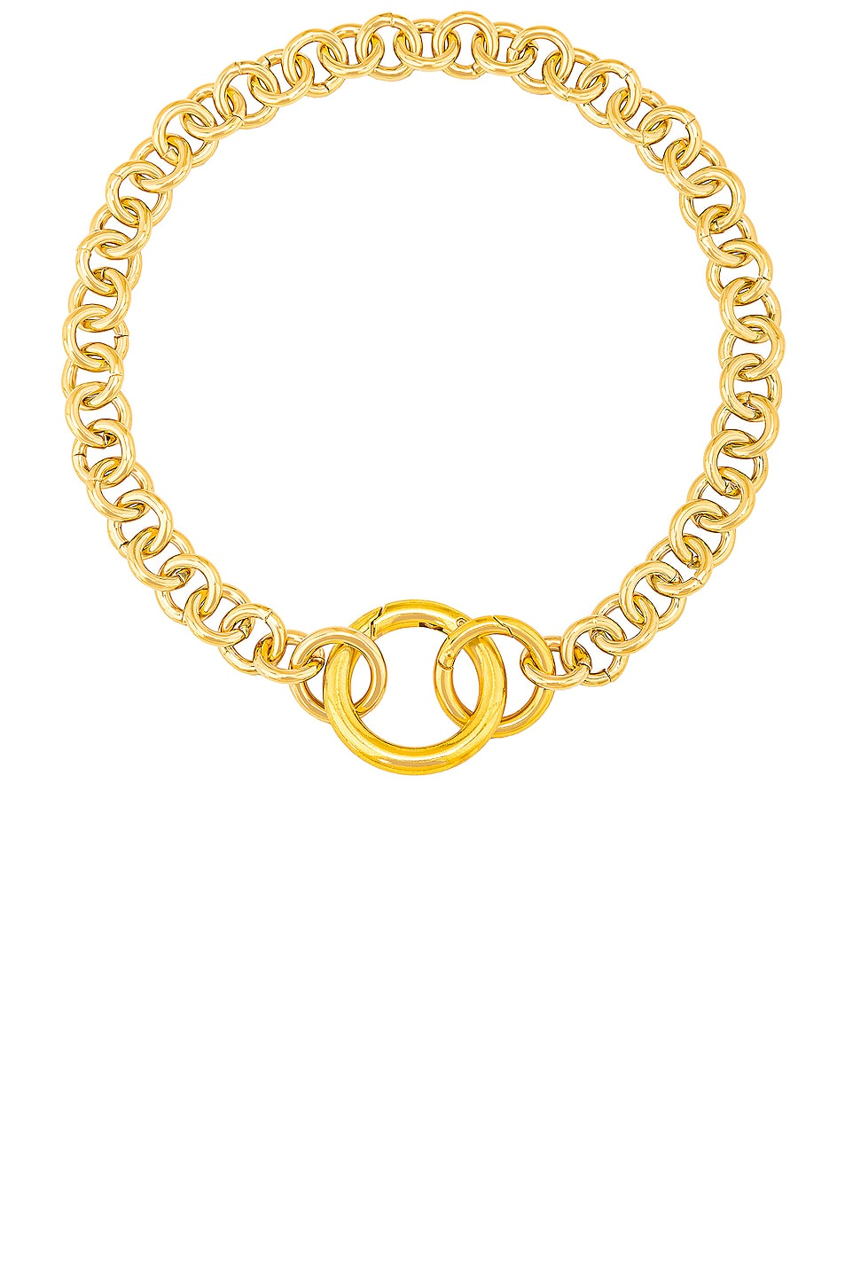 Image 1 of LAURA LOMBARDI Fede Necklace in Gold