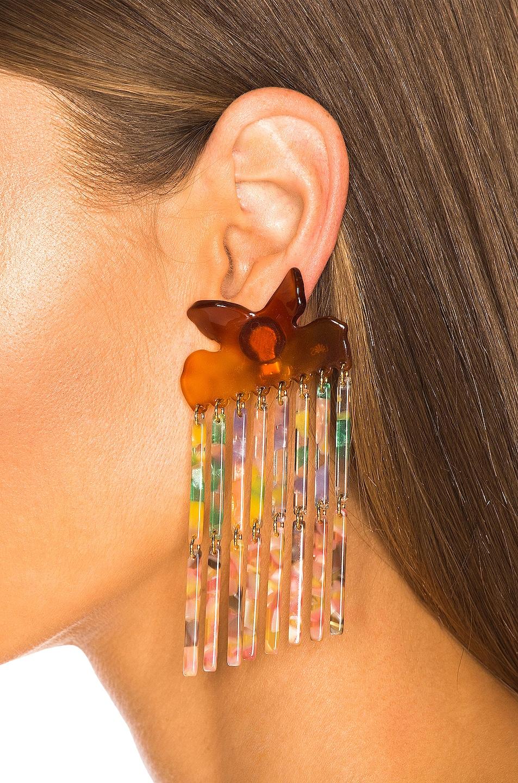 Image 2 of Lele Sadoughi Encore Fringe Earrings in Pastel Confetti