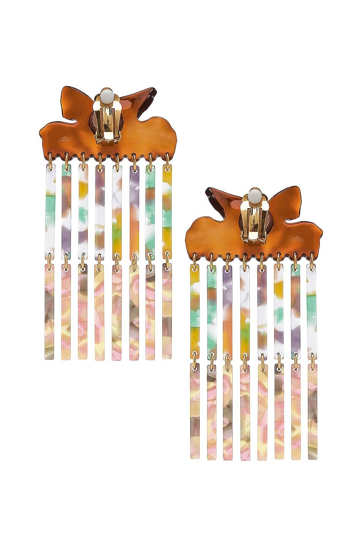 Image 4 of Lele Sadoughi Encore Fringe Earrings in Pastel Confetti