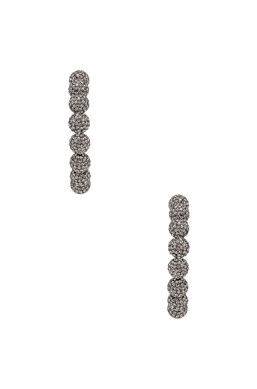 Image 3 of Lele Sadoughi Stardust Crystal Hoop Earrings in Black Diamond