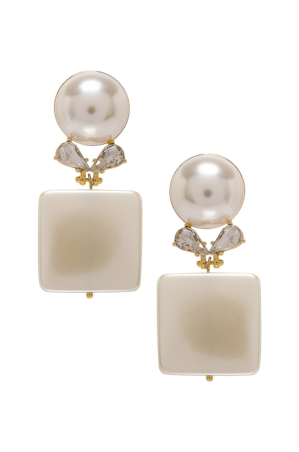 Image 1 of Lele Sadoughi Stone Starlet Earrings in Pearl