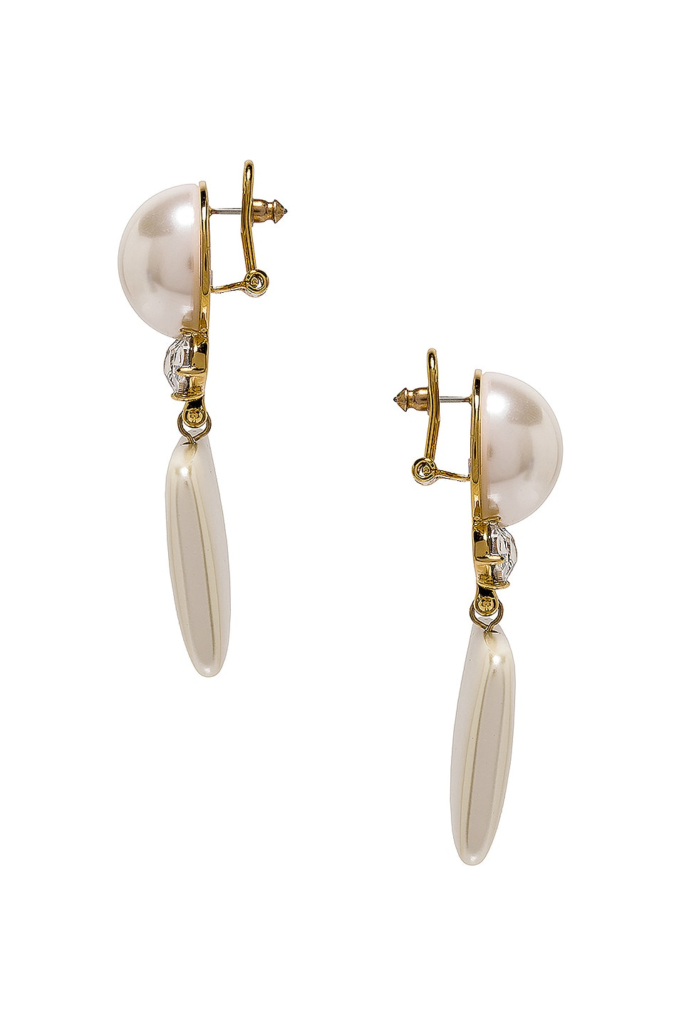Image 3 of Lele Sadoughi Stone Starlet Earrings in Pearl