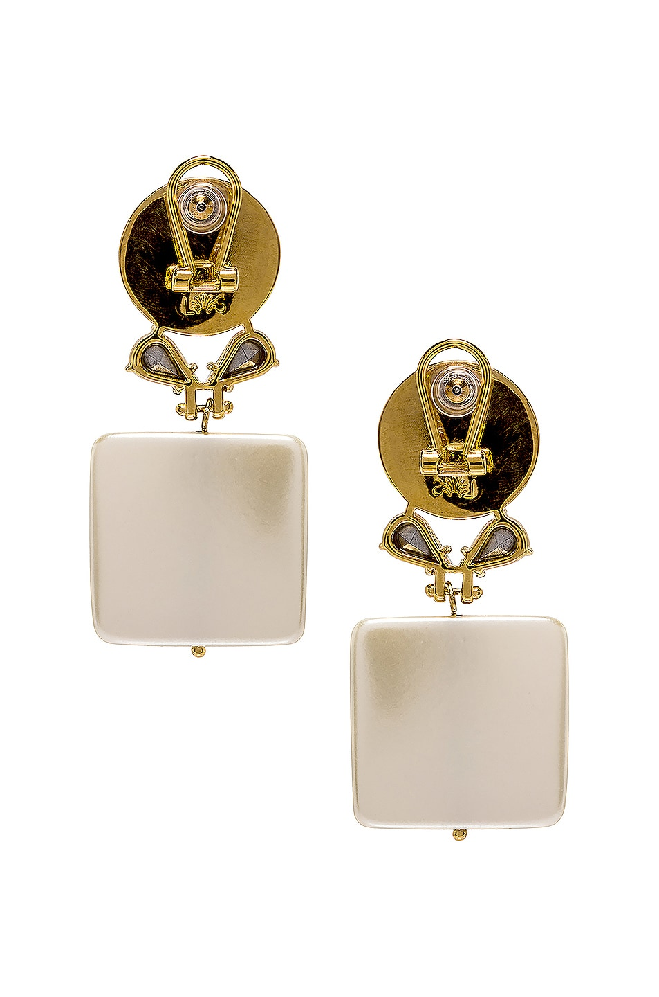 Image 4 of Lele Sadoughi Stone Starlet Earrings in Pearl