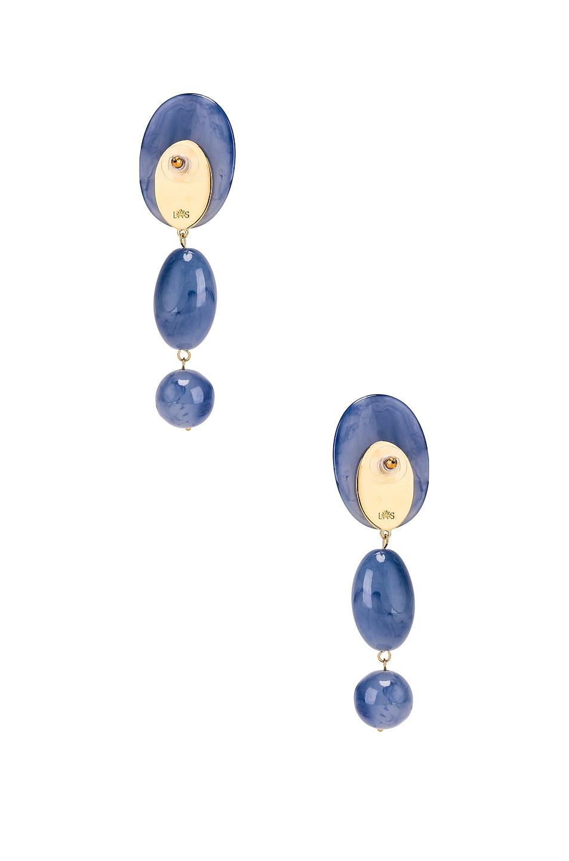 Image 4 of Lele Sadoughi Resin Bubble Drop Earrings in Cobalt