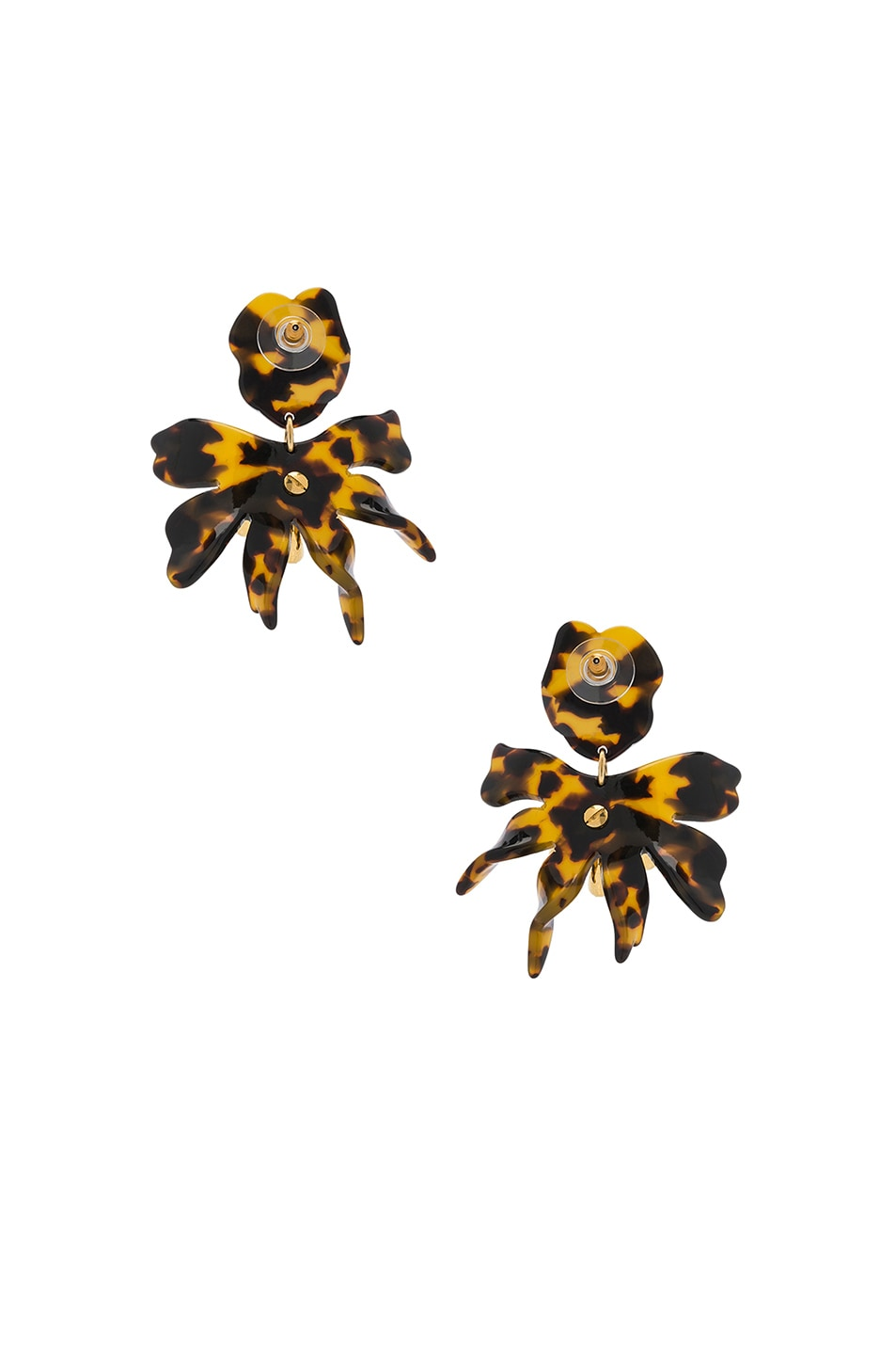 Image 3 of Lele Sadoughi Daffodil Earrings in Tortoise