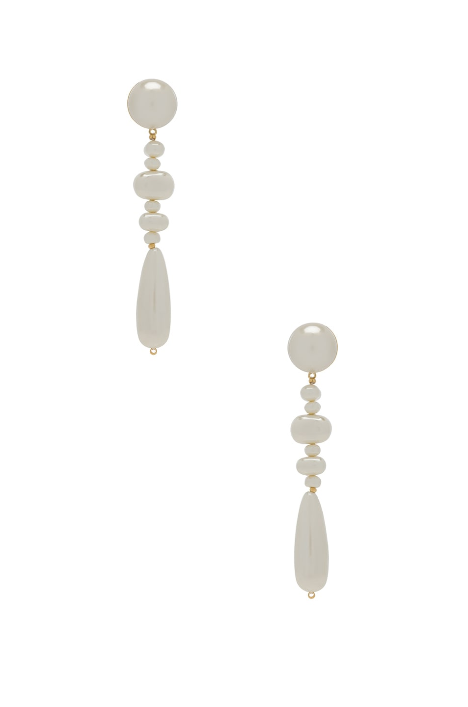 Image 1 of Lele Sadoughi Copacabana Earrings in Pearl