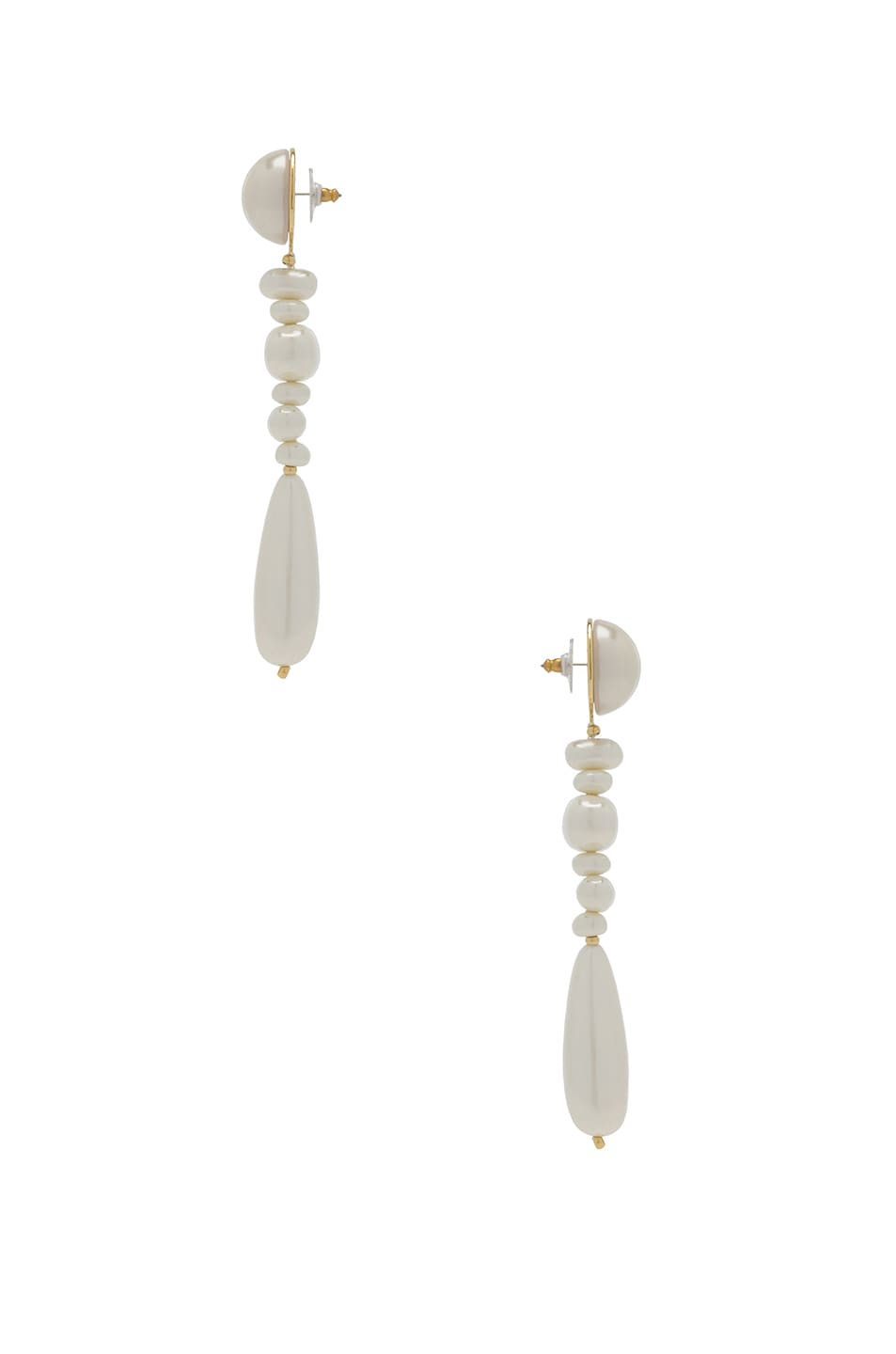 Image 2 of Lele Sadoughi Copacabana Earrings in Pearl