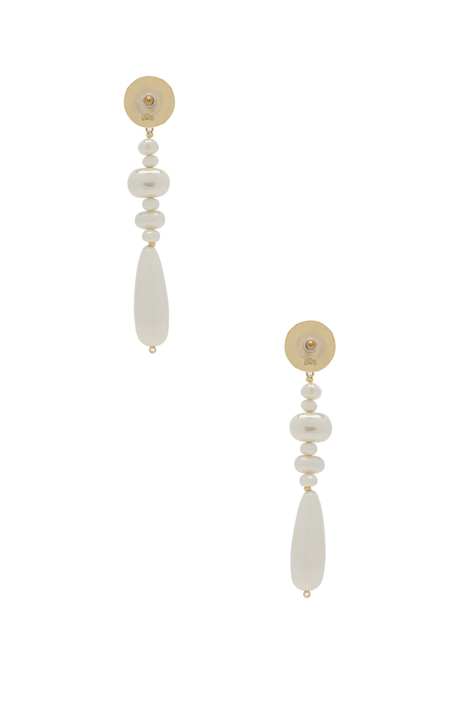 Image 3 of Lele Sadoughi Copacabana Earrings in Pearl