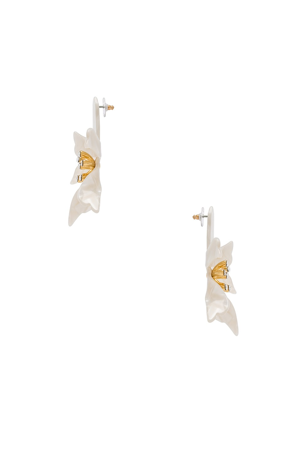 Image 2 of Lele Sadoughi Water Lily Earrings in Mother of Pearl