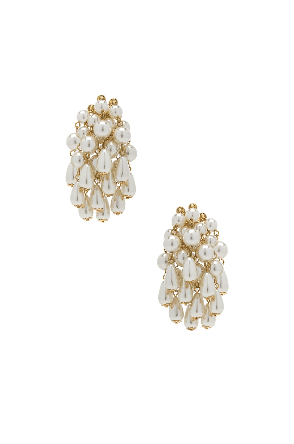 Image 1 of Lele Sadoughi Pearl Cluster Earrings in Pearl