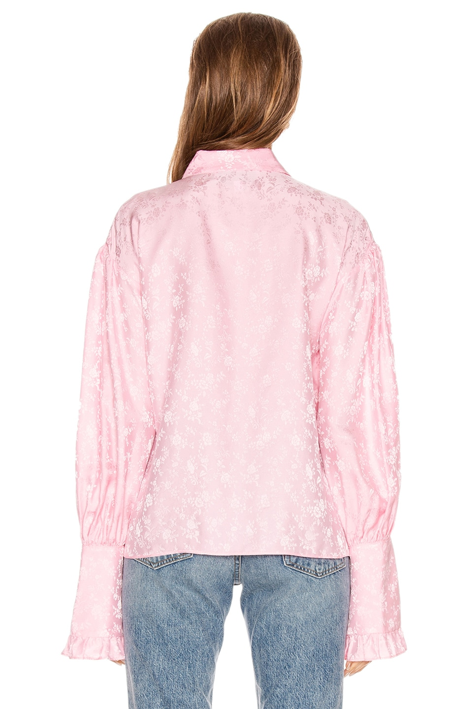 Image 3 of Les Reveries Ruffle Cuff Top in Rose Pink