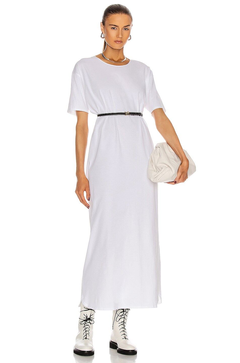 Image 1 of Loulou Studio Arue Robe Dress in White