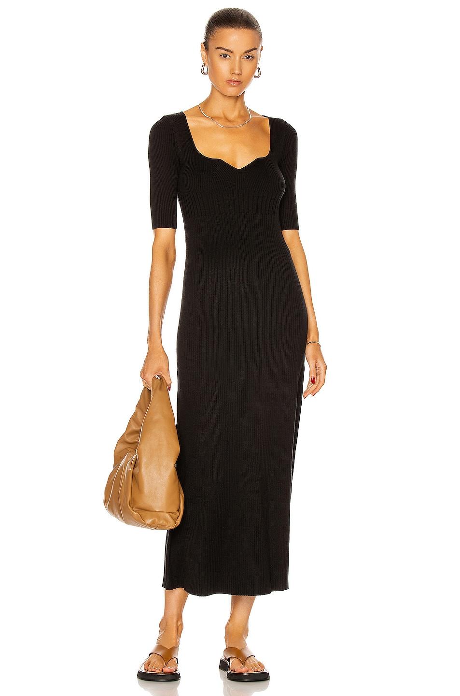 Image 1 of Loulou Studio Chetlat Knit Dress in Black
