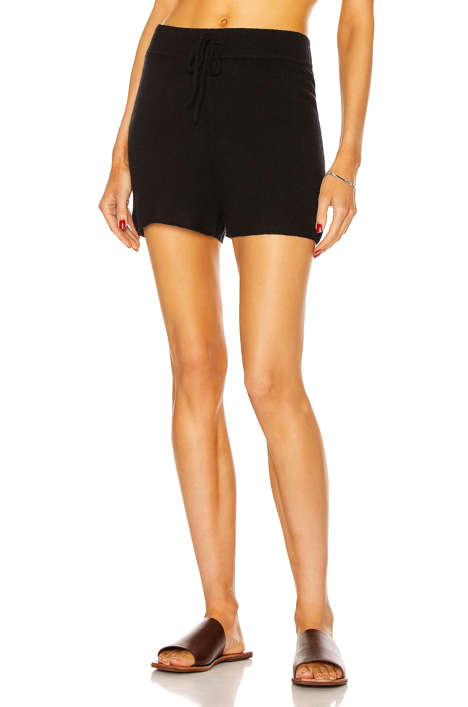 Image 1 of Loulou Studio Robben Cashmere Short in Black