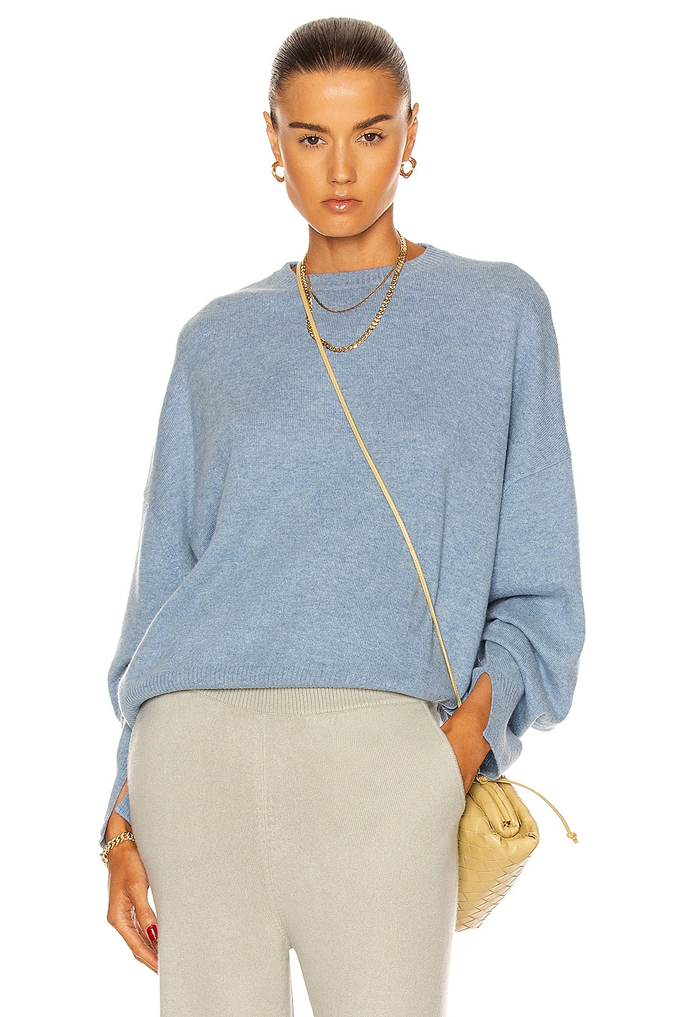 Image 1 of Loulou Studio Anaa Cashmere Sweater in Blue Melange