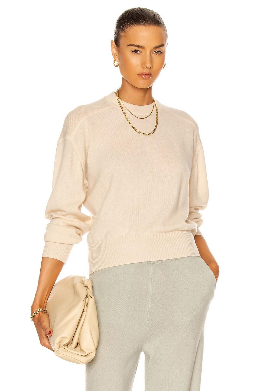 Image 1 of Loulou Studio Arutua Cashmere Sweater in Vanilla