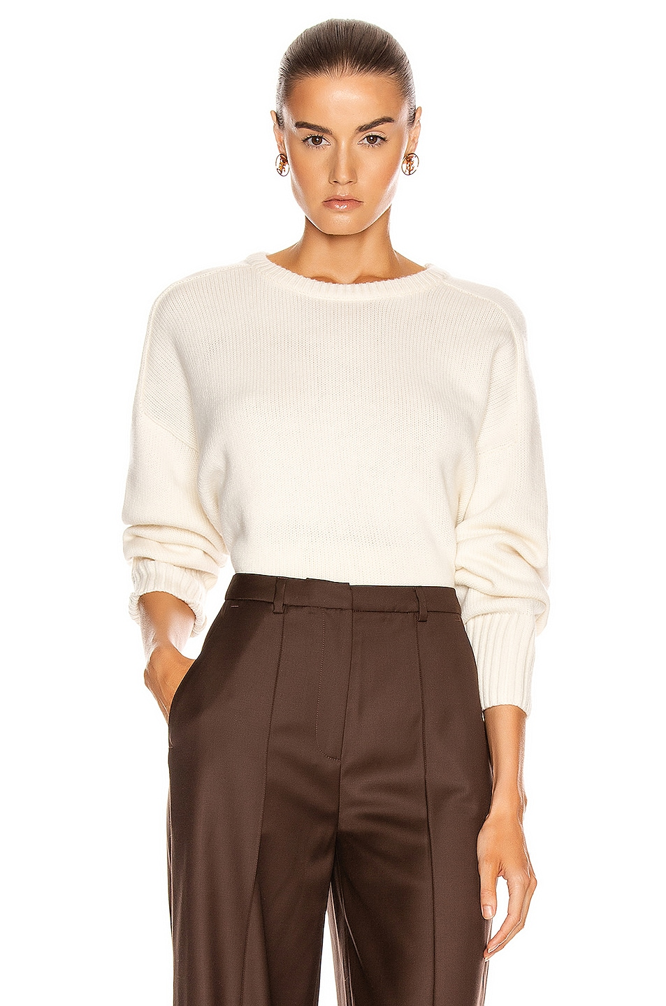 Image 1 of Loulou Studio Bruzzi Sweater in Ivory