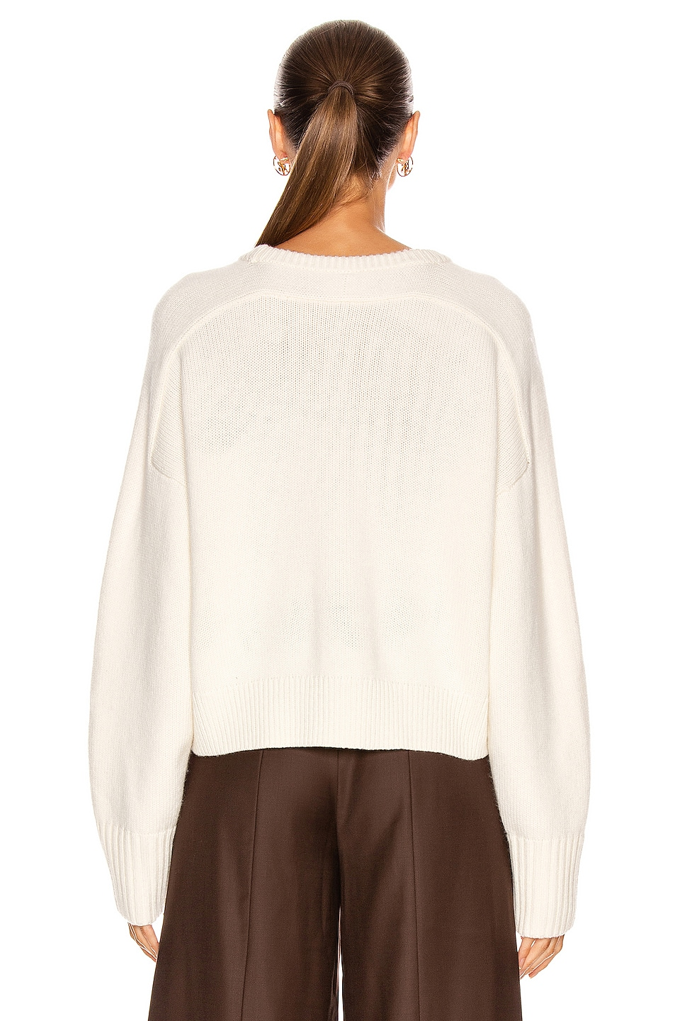 Image 3 of Loulou Studio Bruzzi Sweater in Ivory