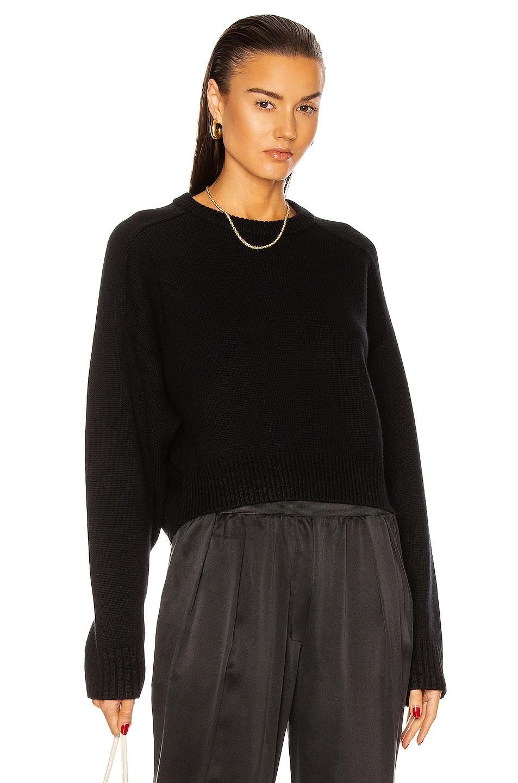 Image 1 of Loulou Studio Bruzzi Sweater in Black