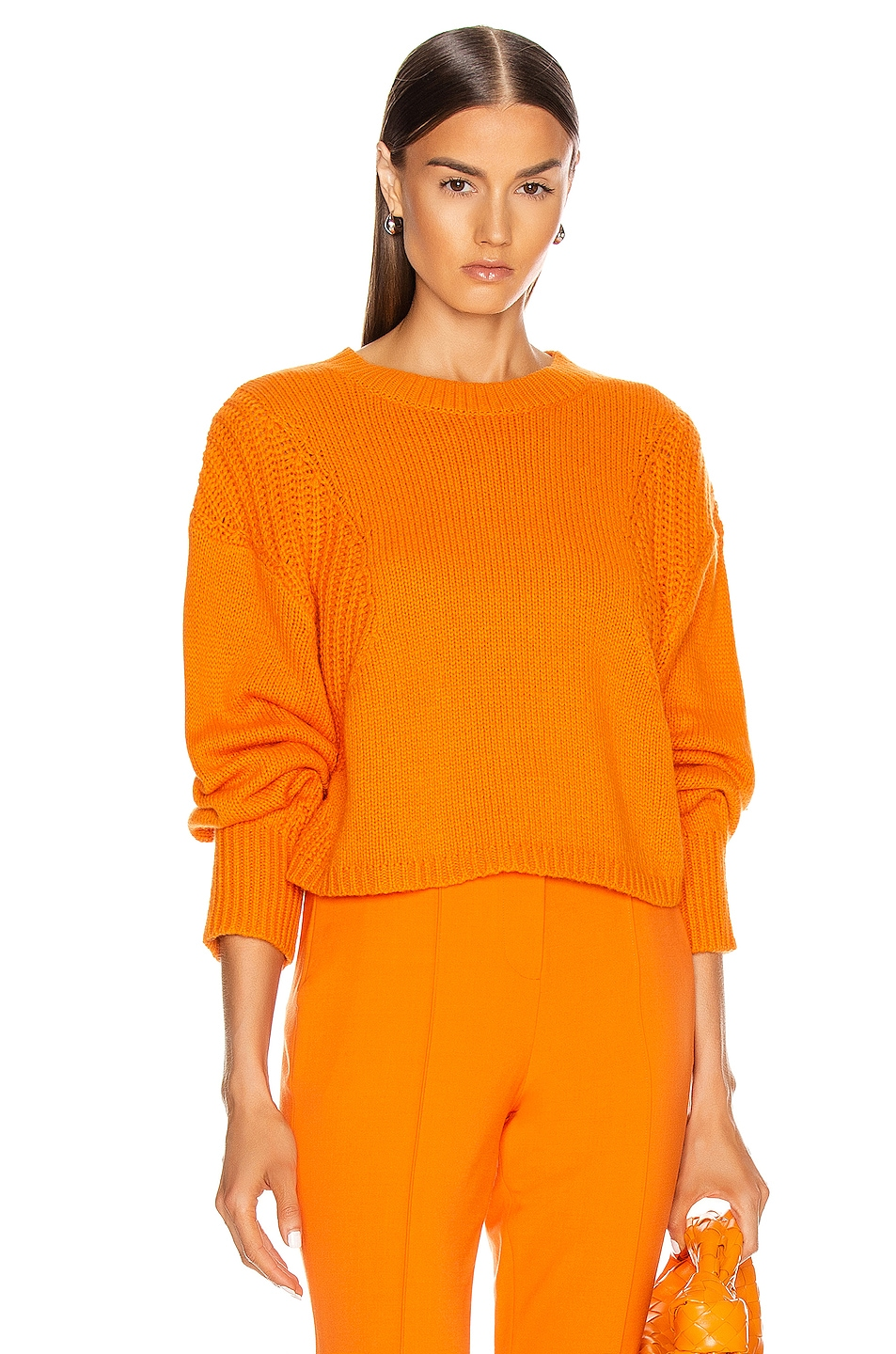 Image 1 of Loulou Studio Huahine Oversized Pullover in Orange