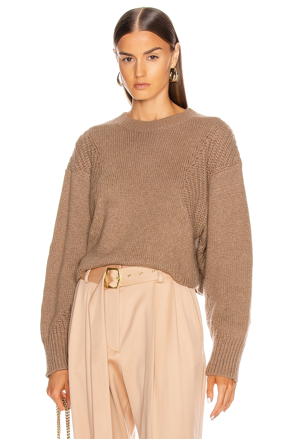 Image 1 of Loulou Studio Huahine Oversized Pullover in Safari