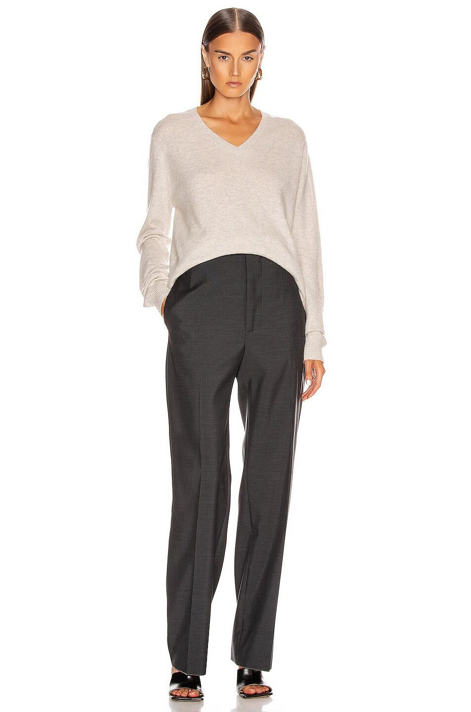 Image 4 of Loulou Studio Serafini Sweater in Light Grey