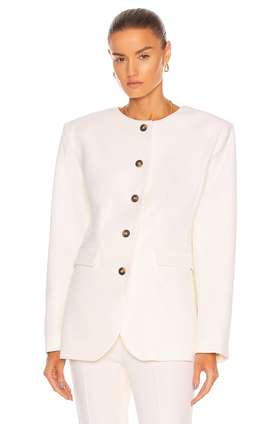 Image 1 of Loulou Studio Lattore Jacket in Ivory