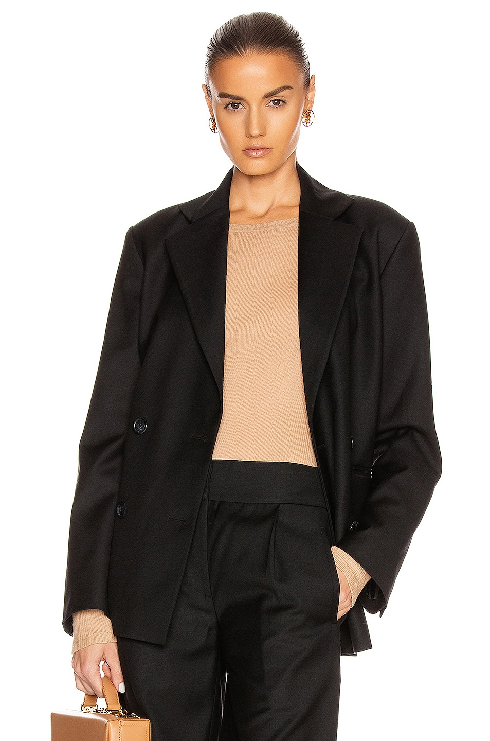 Image 1 of Loulou Studio Tatakoto Blazer in Black