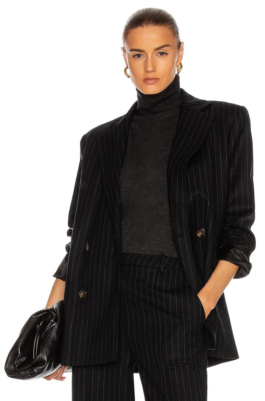 Image 1 of Loulou Studio Ficaja Blazer in Black & Stripes