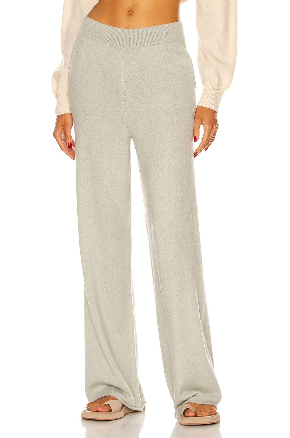 Image 1 of Loulou Studio Tioman Cashmere Pant in Almond
