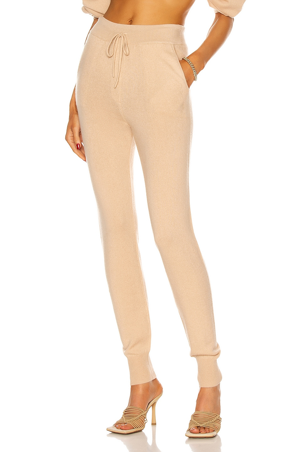 Image 1 of Loulou Studio Maddalena Cashmere Jogger in Beige