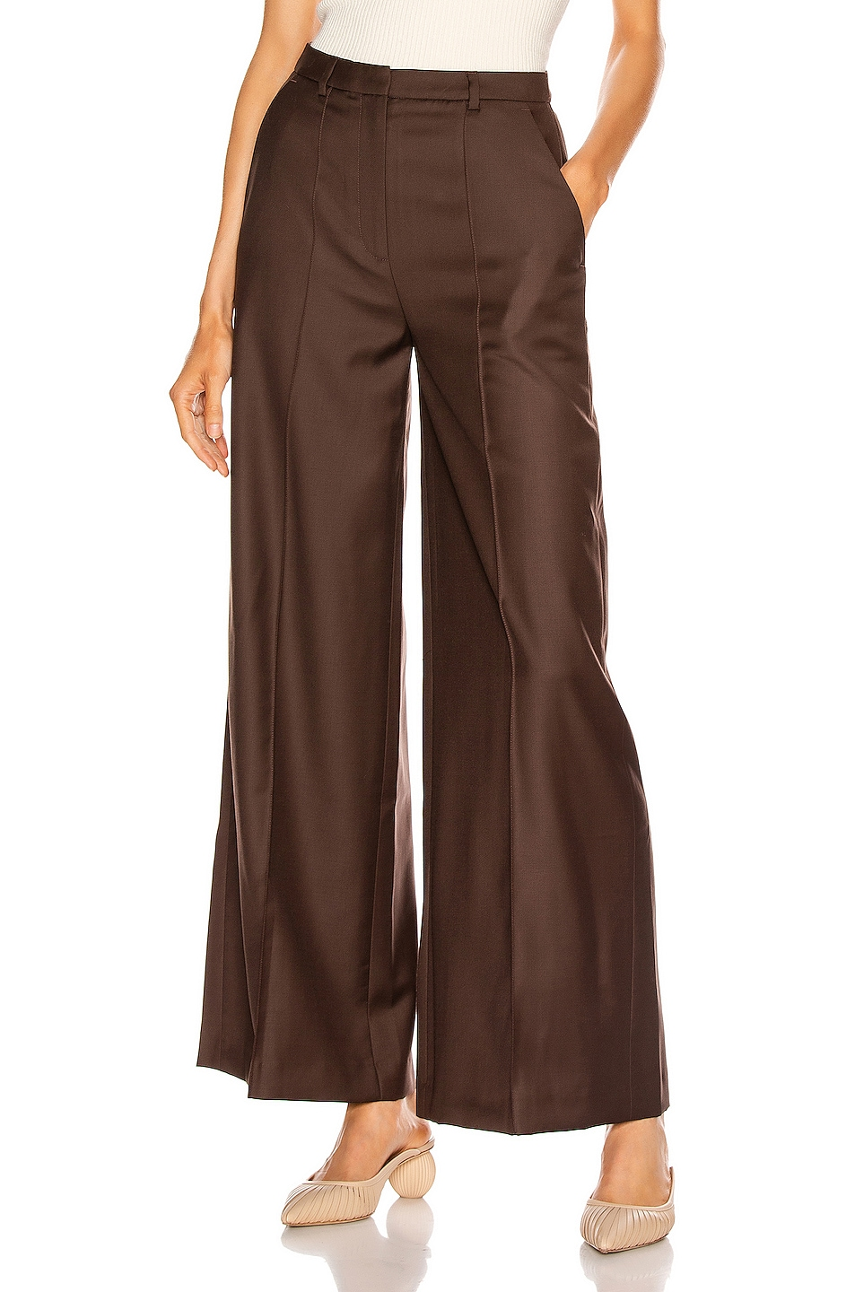 Image 1 of Loulou Studio Rapa Pant in Brown