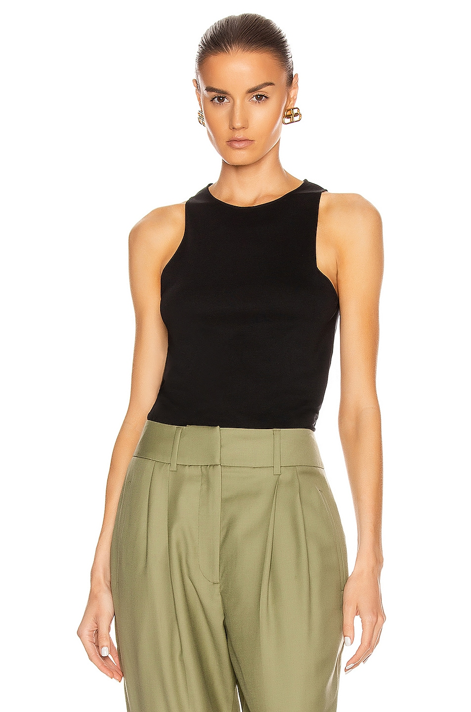 Image 1 of Loulou Studio Mahina Tank Top in Black