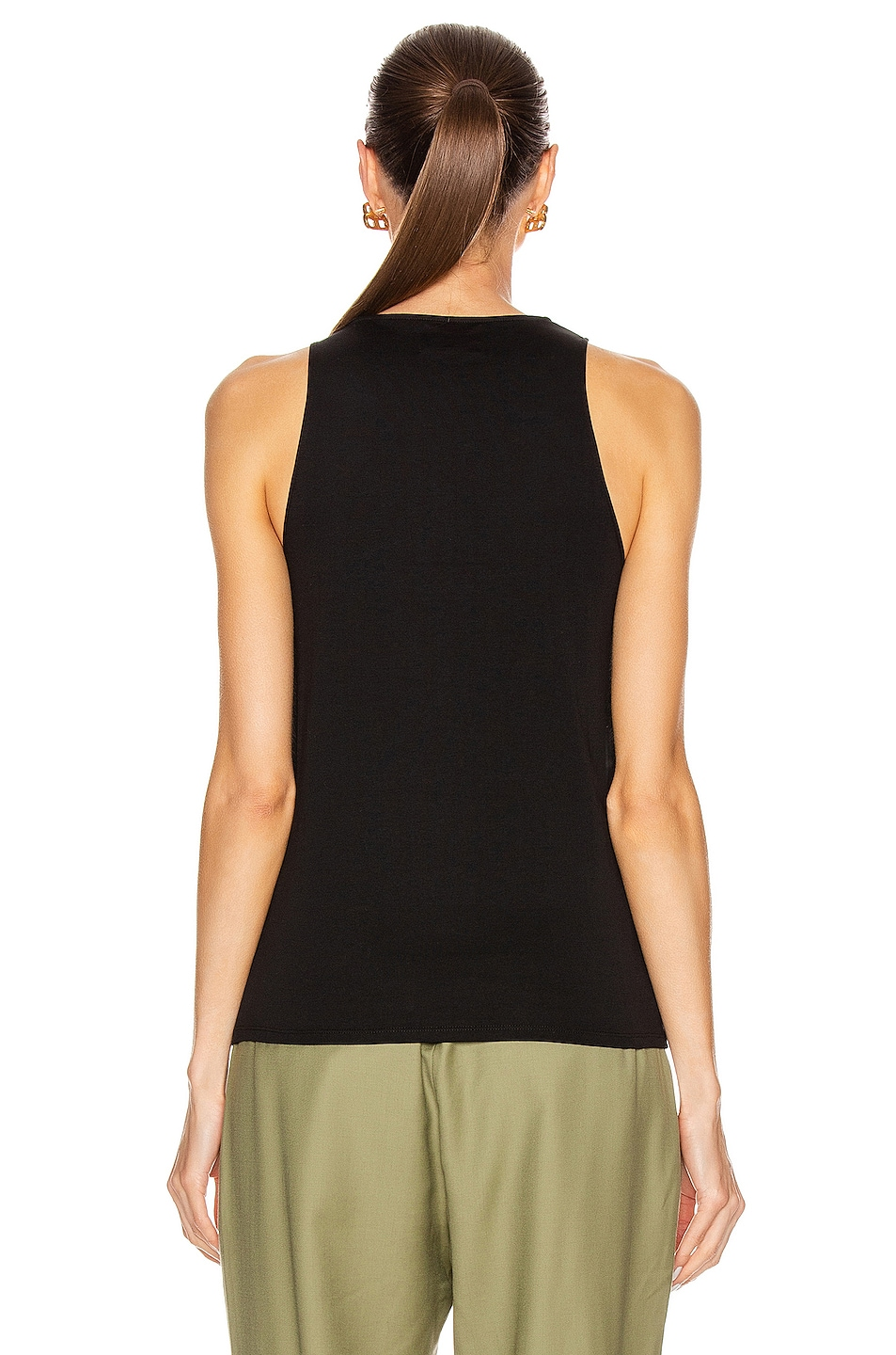 Image 3 of Loulou Studio Mahina Tank Top in Black
