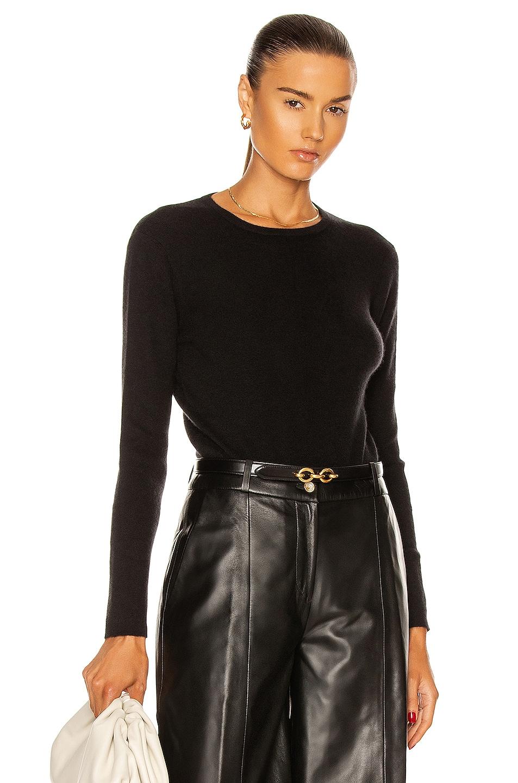 Image 1 of Loulou Studio Pietra Cashmere Bodysuit in Black
