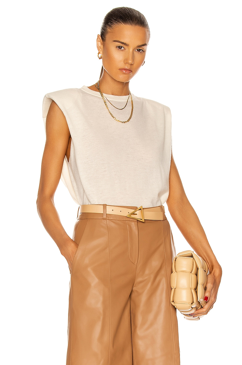 Image 1 of Loulou Studio Prince Top in Ivory