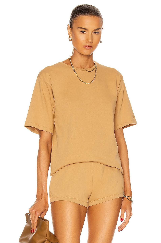 Image 1 of Loulou Studio Lipari T-Shirt in Beige