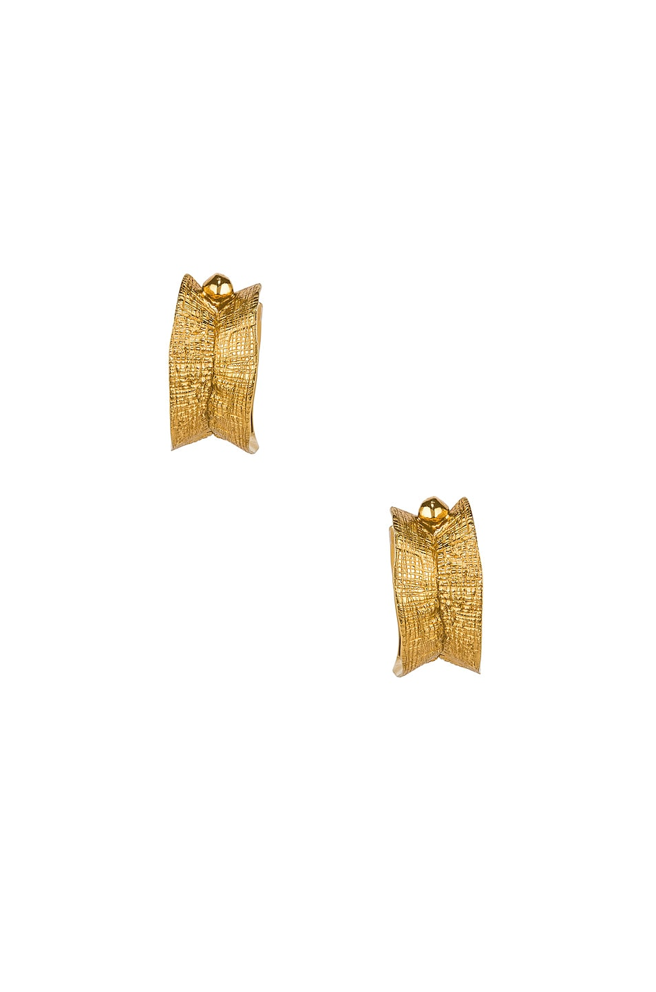 Image 1 of Lucy Folk Molten Hoop Earrings in Yellow Gold