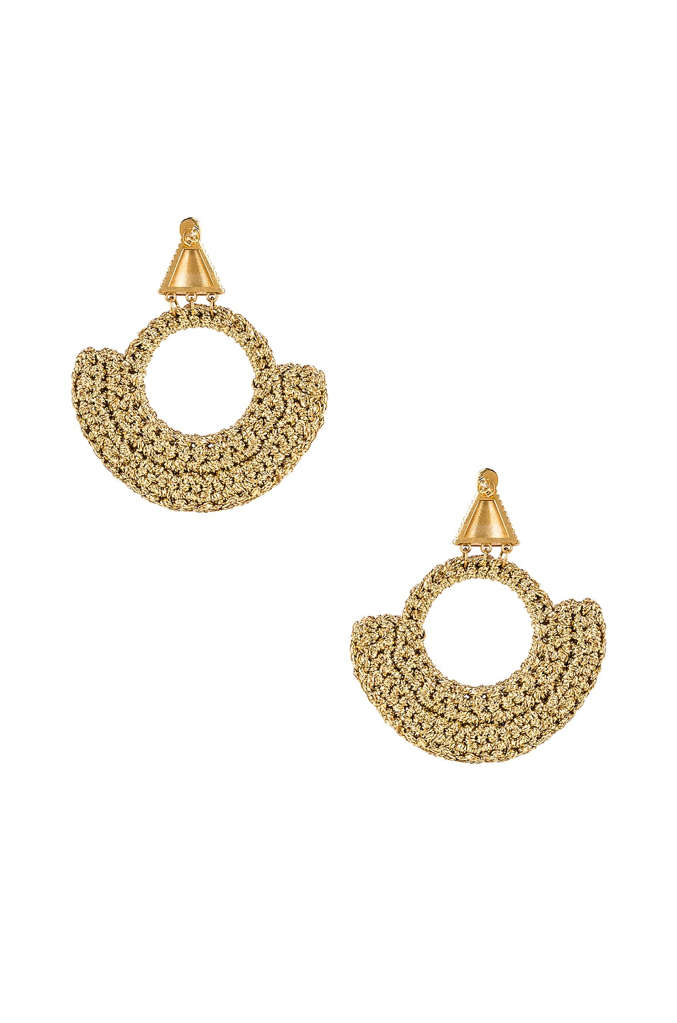Image 4 of Lucy Folk Memphis Milano Earrings in Gold