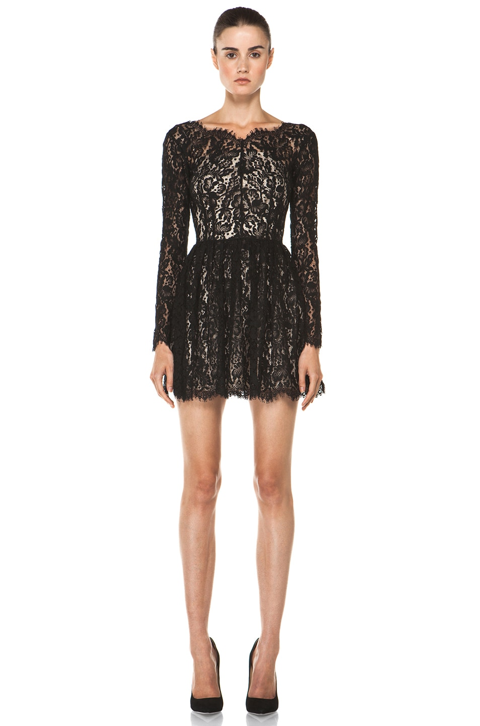 Image 1 of Lover Millie Lace Dress in Black