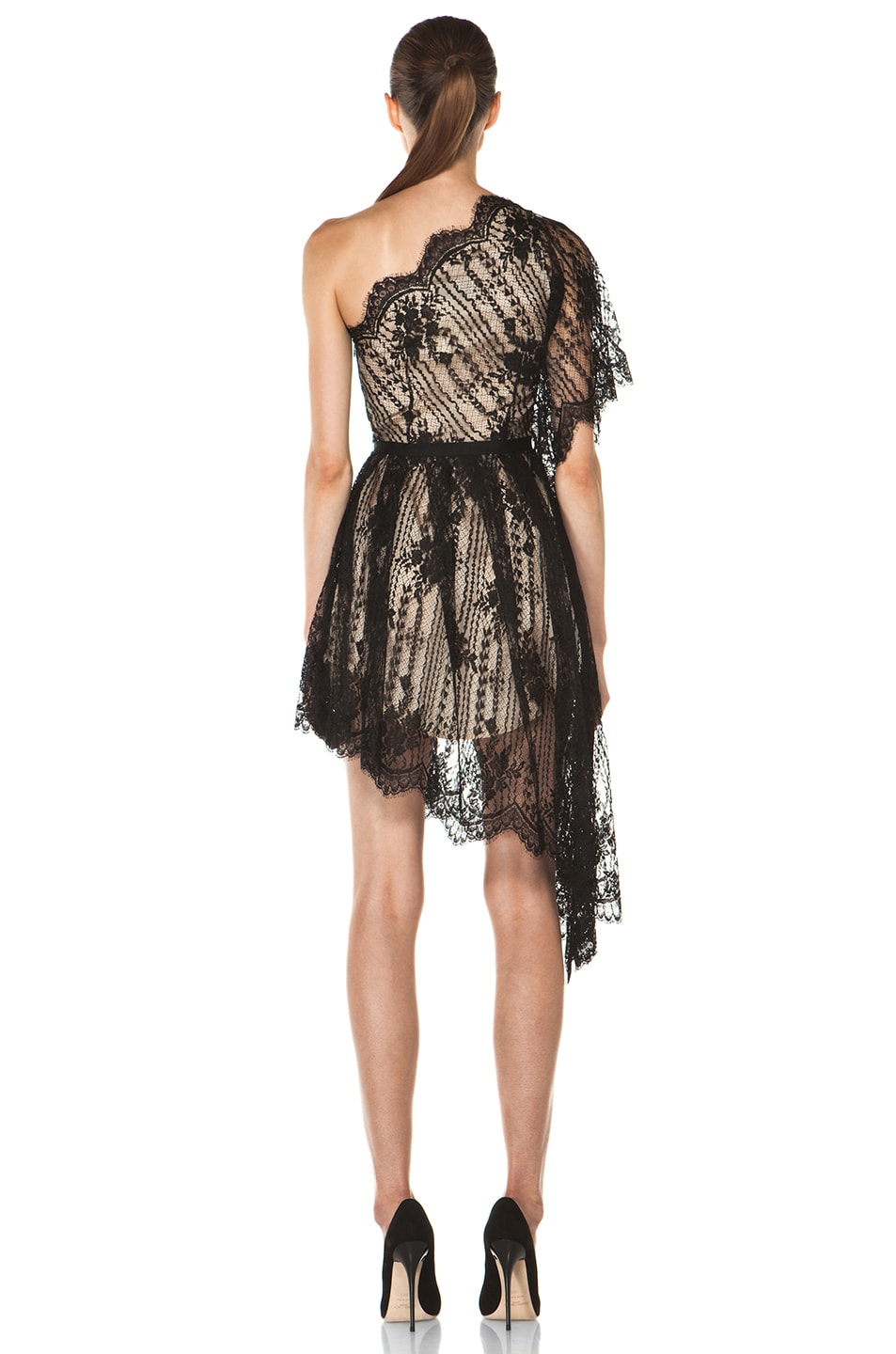 Image 4 of Lover Serenity Lace Knit Dress in Black
