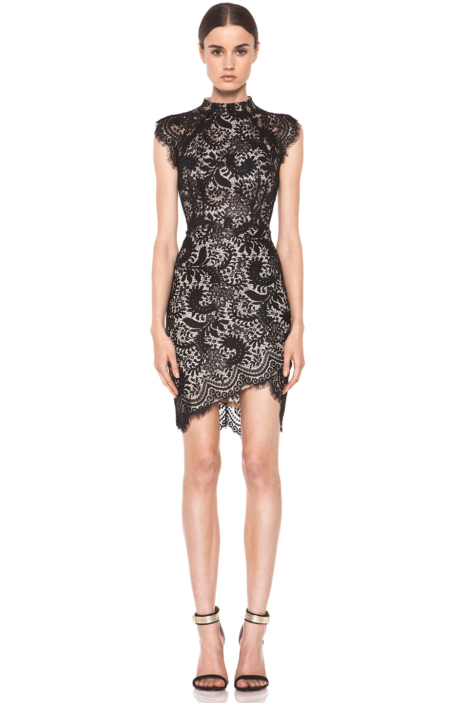 Image 1 of Lover Sara Fitted Dress in Black